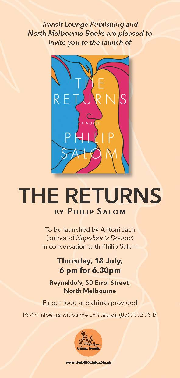 The Returns by Philip Salom Book Launch