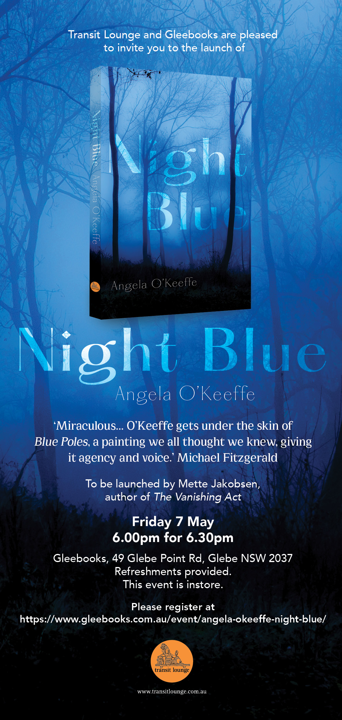 Sydney Launch of Night Blue by Angela O'Keeffe